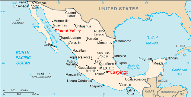 Borlaug Mexico locations