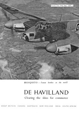 DE HAVILLAND 1943 Advertisement s