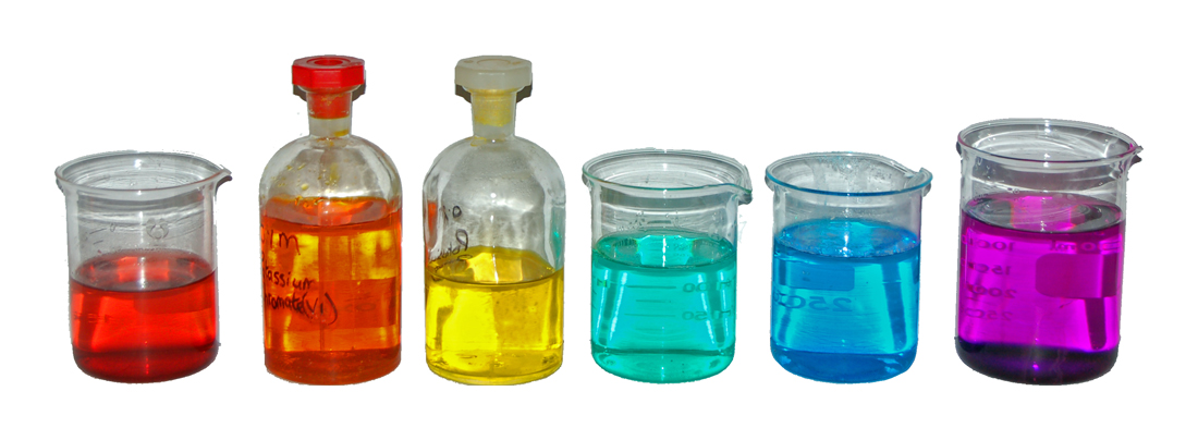 Coloured Transition Metal Solutions