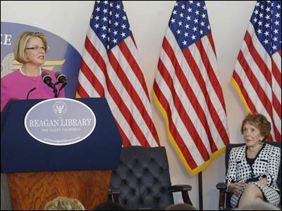 Nancy Reagan Margaret Spellings speech 2008