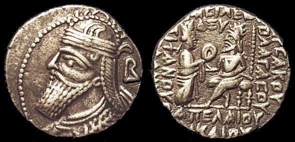 Coin of Vologases IV of Parthia