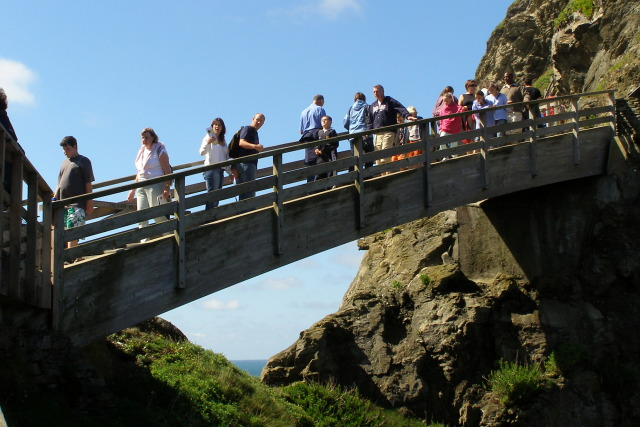 Footbridge to the Island, Tintagel Castle - geograph.org.uk - 936695