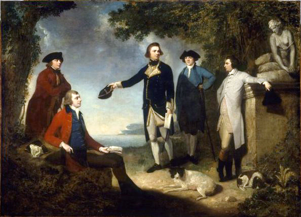 Mortimer - Captain James Cook, Sir Joseph Banks, Lord Sandwich, Dr Daniel Solander and Dr John Hawkesworth