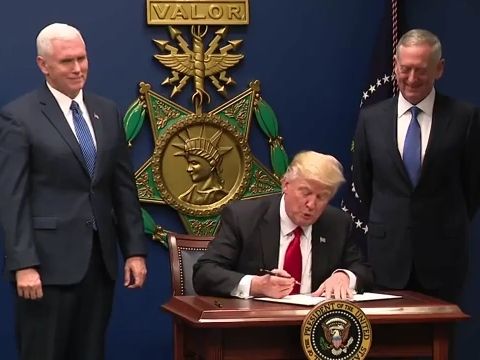Trump signing order January 27