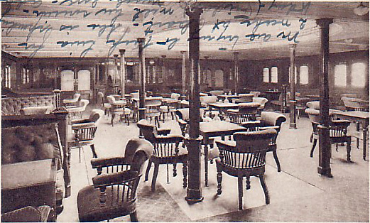 RMS Mauretania Second Class Smoking Room