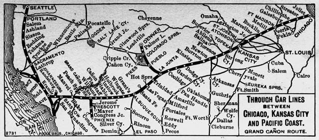 Grand Canyon Route of the Atchison, Topeka & Santa Fe Railway 1900-05