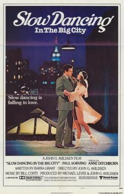 Slow dancing in the big city poster