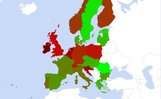 Fertilizer consumption map Europe