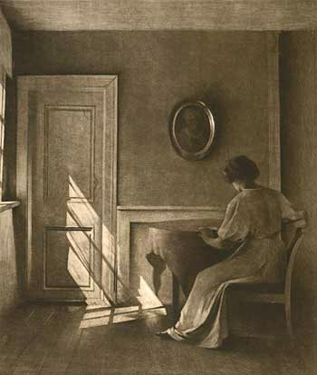 Peter Ilsted - Sunshine Falling on a Door