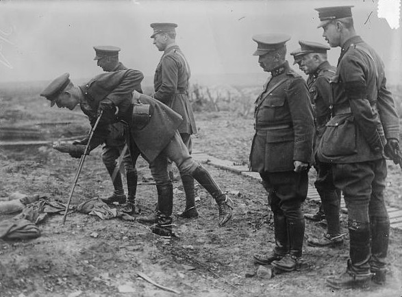 King Albert I of Belgium on battle field
