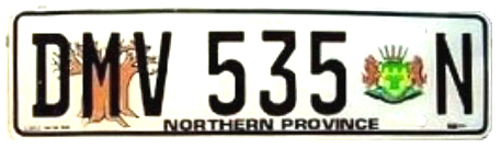 South Africa limpoko province 1995 license plate