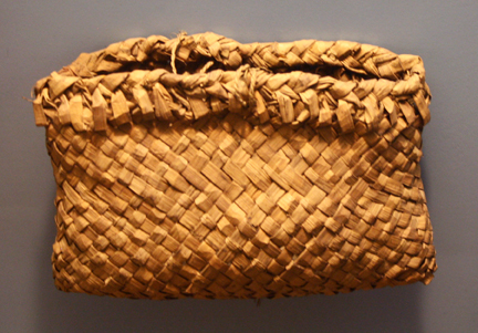 Ojibwa cedarbark bag rice ANHM