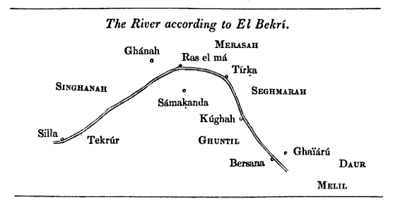 Senegal River according to al-Bakri