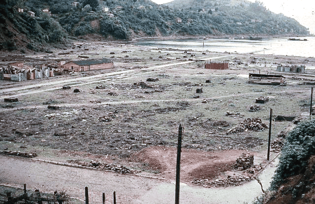 The center of Corral was almost completely destroyed by a tsunami - Autumn 1960