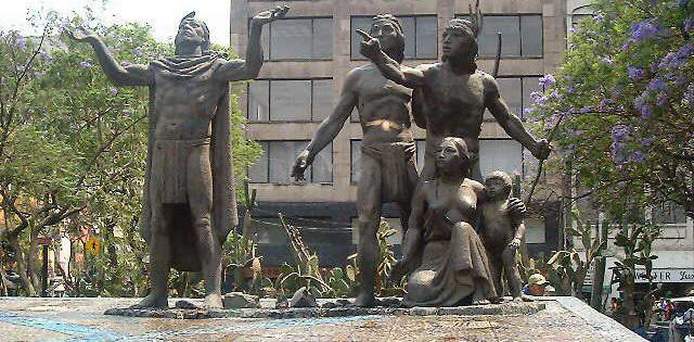 Statue of Foundation of Tenochtitlan