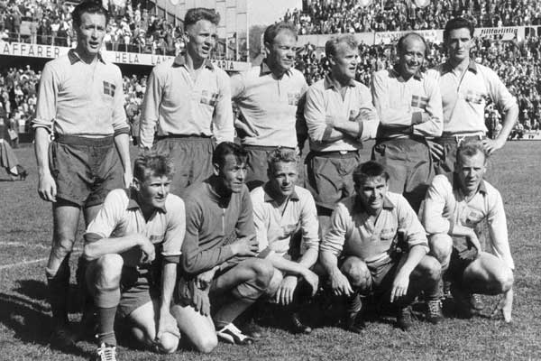Swedish National football team starting 11 1958 WC final