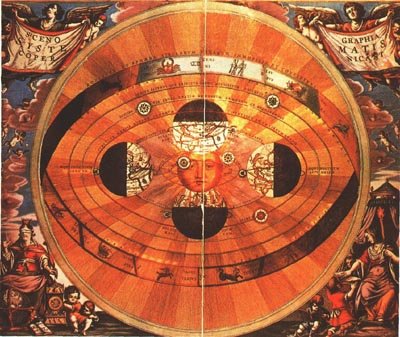 An astronomical chart of the sky drawn by Nicholas Copernicus in 1543