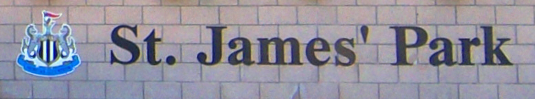 St. James Park sign Newcastle