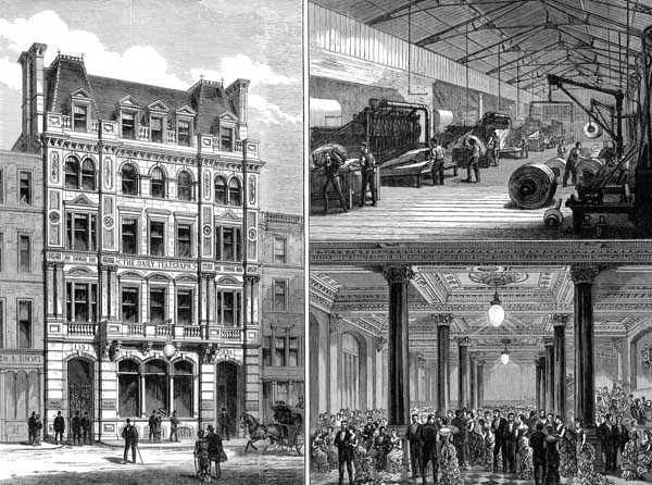 New Daily Telegraph Offices Fleet Street ILN 1882
