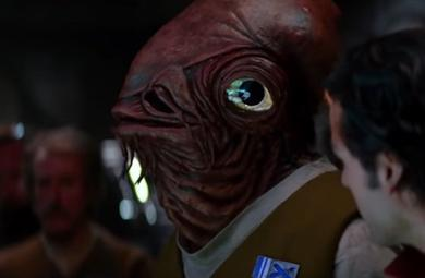 Admiral Ackbar in Star Wars The Force Awakens