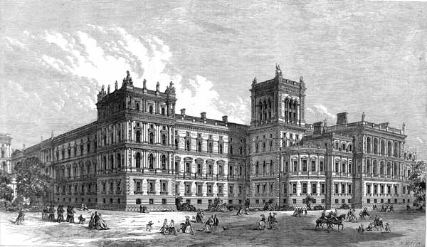 Foreign and India Offices, London, 1866 ILN