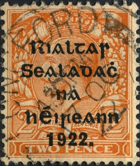 Irish Stamp 2 Two Pence Overprint