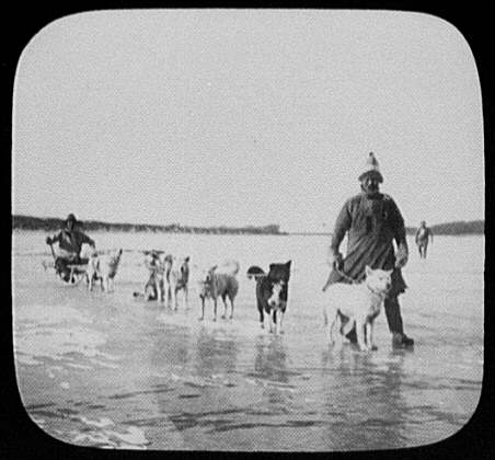 Goldi men with dog sled on Amur River LCCN2004708050