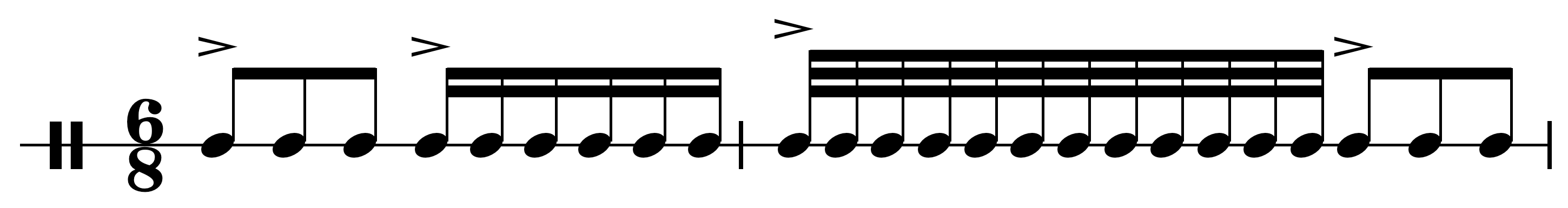 Not syncopation example
