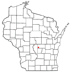 Location of Coloma (town), Wisconsin