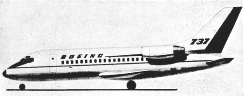 1964 Boeing 737 concept