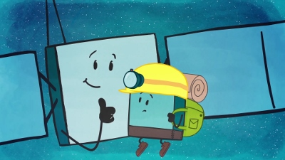 Rosetta and Philae cartoon