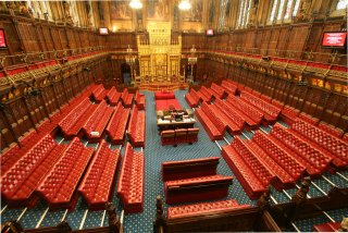 House of Lords chamber - toward throne