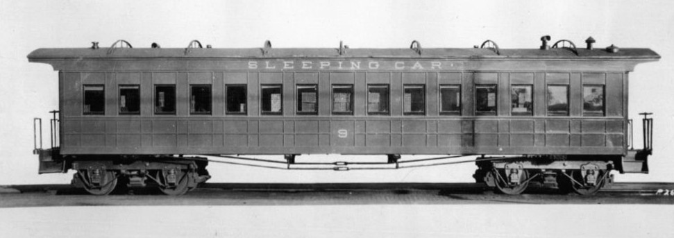 Pullman sleeping car circa 1860s