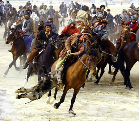 Buzkashi sport in the Balkh province