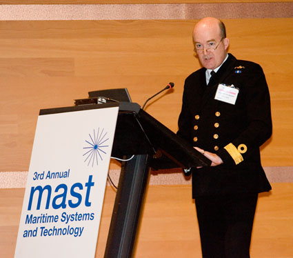 Commodore Bob Mansergh at MAST
