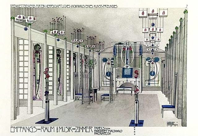 Charles Rennie Mackintosh - Music Room 1901