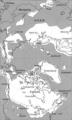 Pleistocene north ice map