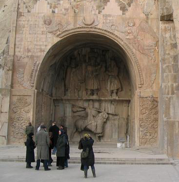 Sassanid reliefs at Taq e Bostan