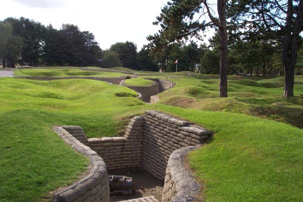 Vimy Memorial - German trenches, mortar emplacement