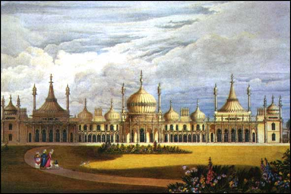 Brighton Pavilion from Views of the Royal Pavilion (1826) edited