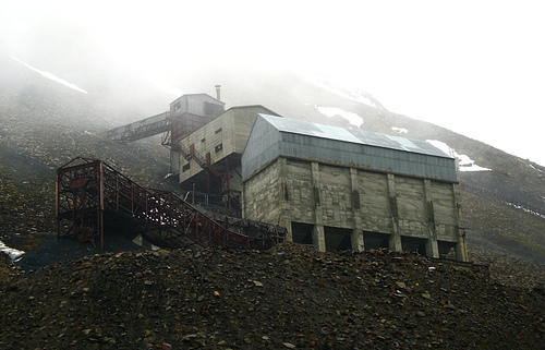 Hillside mine on Svalbard
