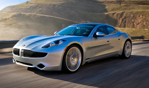Fisker at speed in the fog trimmed
