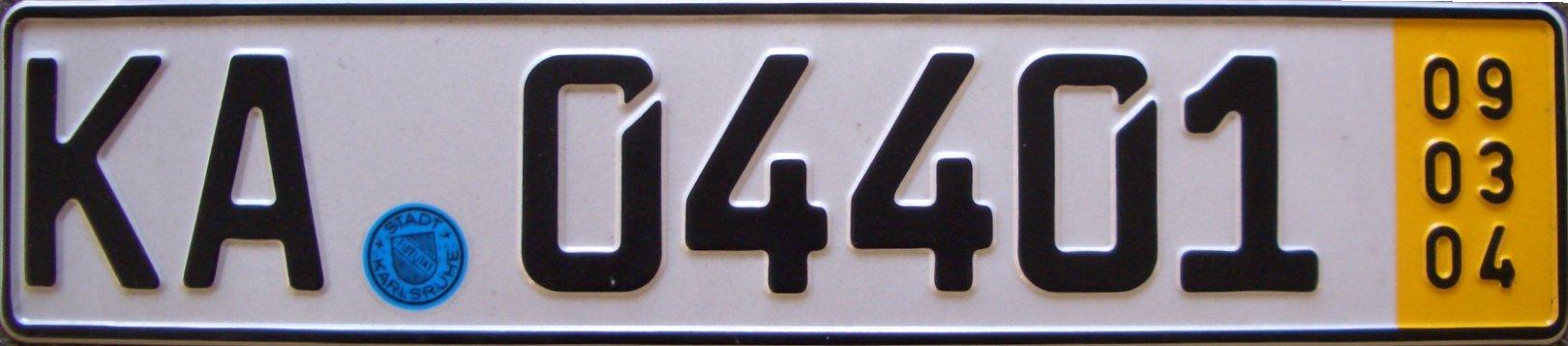 Deutsches Kurzzeit KFZ Kennzeichen German car number plates Facts