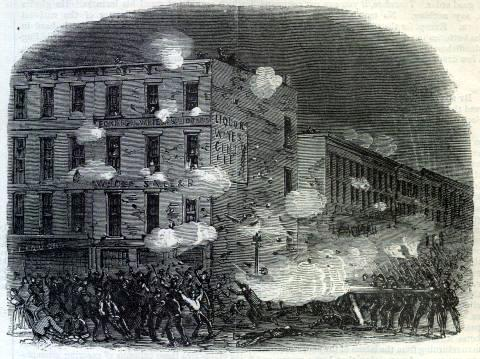 New York Draft Riots - Harpers - clash