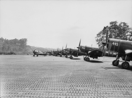 RAAF Boomerang with RNZAF Corsairs on Bougainville 1945