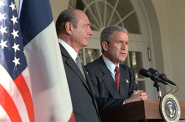 Chirac with bush