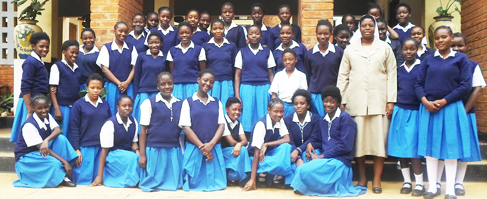Pupils at St Monicas Girls Secondary School