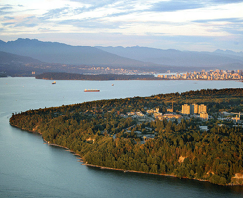 UBC aerial view