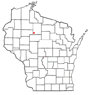 Location of Kennan (town), Wisconsin