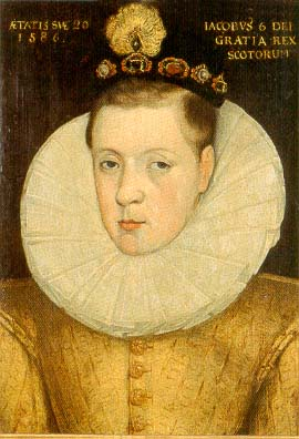 James VI of Scotland aged 20, 1586.